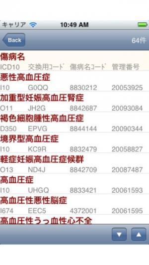 iPhone、iPadアプリ「病名さん」のスクリーンショット 2枚目
