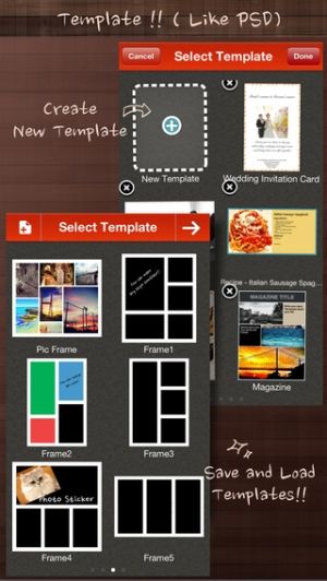 iPhone、iPadアプリ「Frame Artist - Photo Collage Editor, Pic-Frame , Pic Stitch and Play Post Templates & Filter Effect & Frames - 合成写真, コラージュ 作成, 文」のスクリーンショット 1枚目