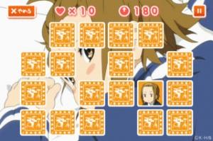iPhone、iPadアプリ「けいおん!!おしゃべり神経衰弱!!〜田井中律編」のスクリーンショット 4枚目