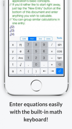 iPhone、iPadアプリ「PocketCAS lite Mathematics Toolkit」のスクリーンショット 3枚目