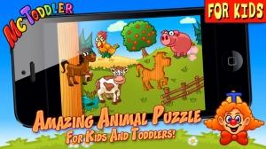 iPhone、iPadアプリ「すばらしい動物パズル子供および幼児のための - Animal Puzzle」のスクリーンショット 1枚目