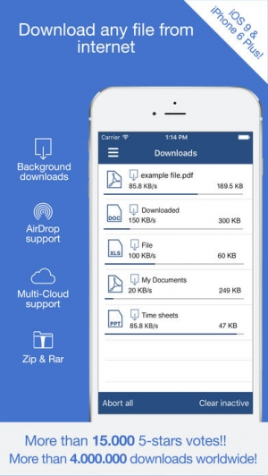 iPhone、iPadアプリ「Total: browser with file manager and cloud storage support」のスクリーンショット 1枚目