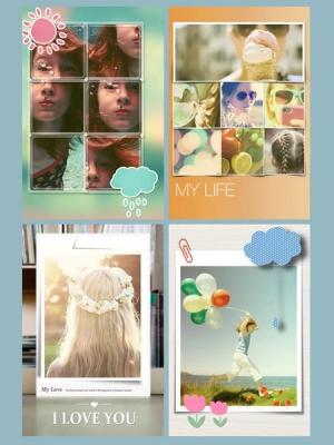 iPhone、iPadアプリ「写真分割 - Photo Slice HD - かわいいコラージュ文字入れスタンプ写真」のスクリーンショット 5枚目