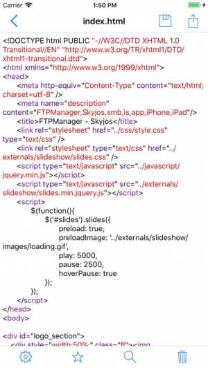 iPhone、iPadアプリ「FTPManager - FTP, SFTP client」のスクリーンショット 4枚目