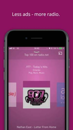 iPhone、iPadアプリ「radio.net PRIME」のスクリーンショット 1枚目