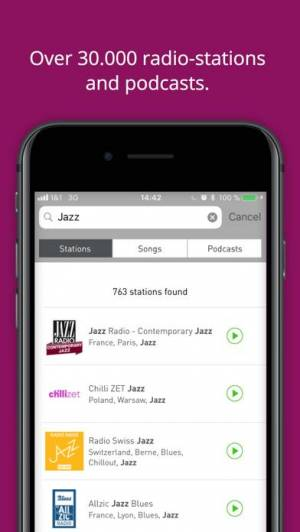 iPhone、iPadアプリ「radio.net PRIME」のスクリーンショット 5枚目