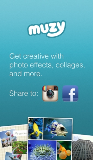 iPhone、iPadアプリ「Muzy: Photo Editors, Collages, and more」のスクリーンショット 1枚目