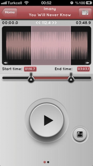 iPhone、iPadアプリ「a MP3 Cutter For iMovie Free (JP)」のスクリーンショット 2枚目