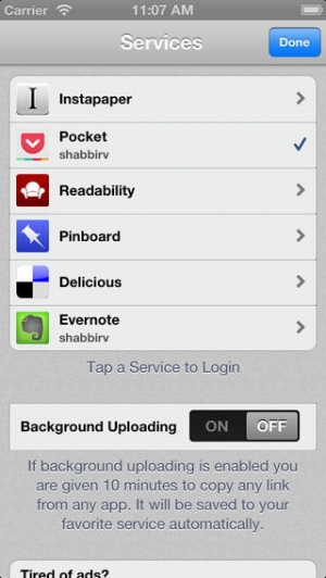iPhone、iPadアプリ「Clipped for iOS (Bookmark all your favorite links)」のスクリーンショット 2枚目