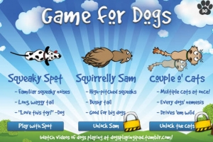 iPhone、iPadアプリ「Game for Dogs」のスクリーンショット 1枚目