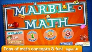 iPhone、iPadアプリ「Marble Math」のスクリーンショット 1枚目