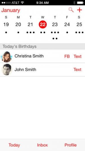 iPhone、iPadアプリ「マイカレンダー Free」のスクリーンショット 1枚目