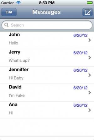iPhone、iPadアプリ「Fake SMS+」のスクリーンショット 4枚目
