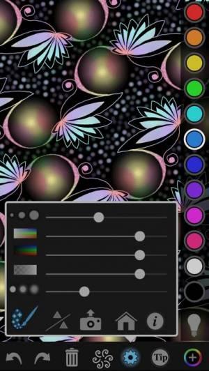 iPhone、iPadアプリ「iOrnament - creative math art」のスクリーンショット 1枚目
