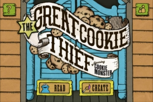 iPhone、iPadアプリ「The Great Cookie Thief... A Sesame Street App Starring Cookie Monster」のスクリーンショット 1枚目
