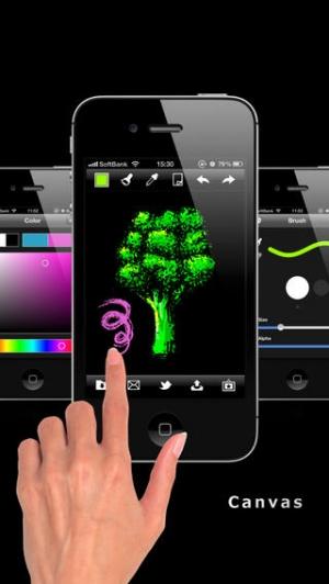 iPhone、iPadアプリ「お絵かき広場 Spline [無料]」のスクリーンショット 2枚目