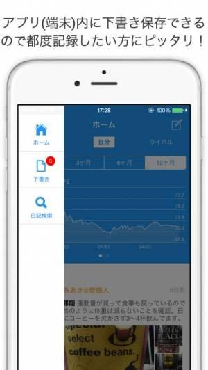 iPhone、iPadアプリ「ダイエットクラブ」のスクリーンショット 4枚目