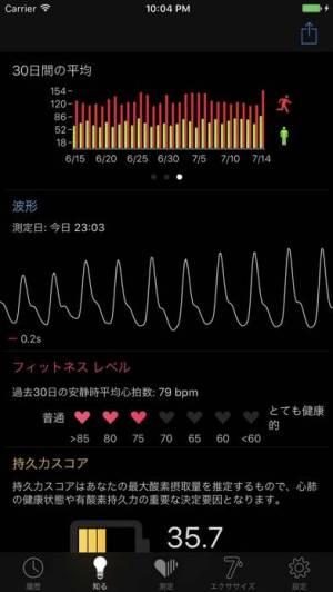 iPhone、iPadアプリ「Cardiio - 心拍数計 + 7分間 エクササイズ」のスクリーンショット 3枚目