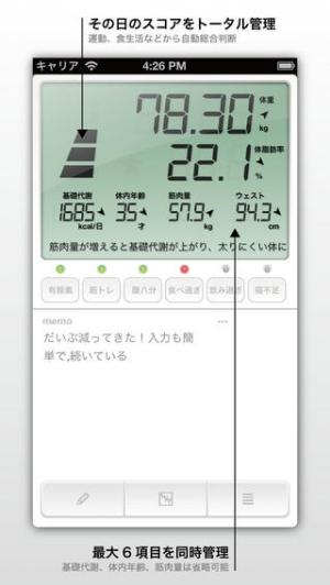 iPhone、iPadアプリ「BestShape〜本気でダイエット!」のスクリーンショット 2枚目