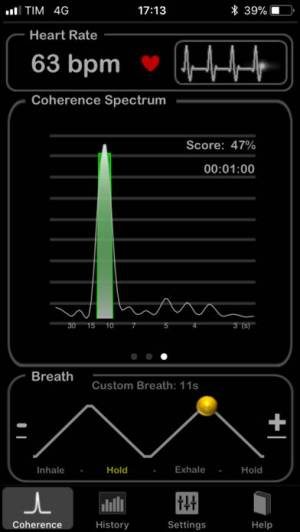 iPhone、iPadアプリ「HeartRate+ Coherence」のスクリーンショット 3枚目