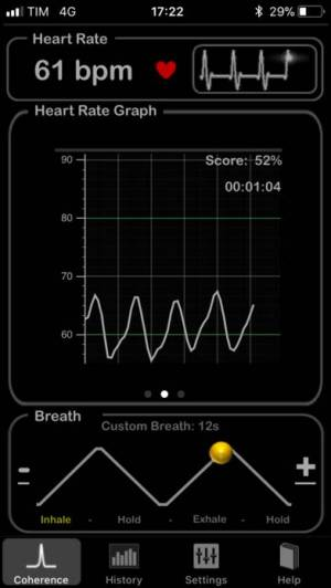 iPhone、iPadアプリ「HeartRate+ Coherence」のスクリーンショット 2枚目