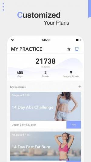 iPhone、iPadアプリ「Daily Yoga - Workout & Fitness」のスクリーンショット 2枚目
