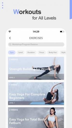 iPhone、iPadアプリ「Daily Yoga - Workout & Fitness」のスクリーンショット 4枚目