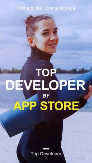 iPhone、iPadアプリ「Daily Yoga: Workout & Fitness」のスクリーンショット 1枚目