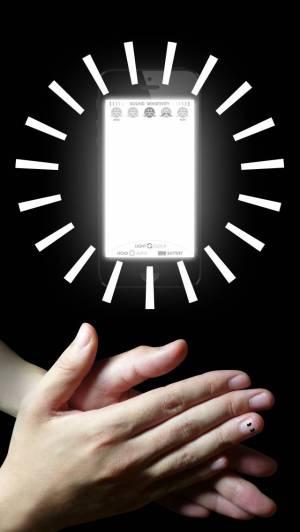 iPhone、iPadアプリ「H'clap! 〜ライト&クロック - 音センサーで光る時計〜」のスクリーンショット 1枚目