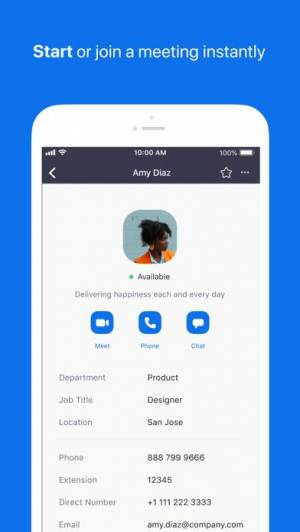 iPhone、iPadアプリ「ZOOM Cloud Meetings」のスクリーンショット 1枚目