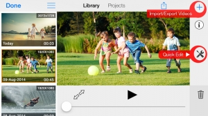 iPhone、iPadアプリ「MoviePro : Video Recorder with Limitless options」のスクリーンショット 3枚目
