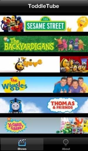 iPhone、iPadアプリ「ToddleTube」のスクリーンショット 1枚目