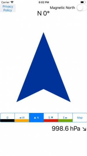 iPhone、iPadアプリ「東西南北コンパス方位磁石地図」のスクリーンショット 1枚目