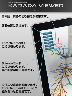 iPhone、iPadアプリ「KARADA VIEWER Bronchi」のスクリーンショット 2枚目