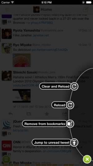 iPhone、iPadアプリ「Janetter for Twitter」のスクリーンショット 2枚目