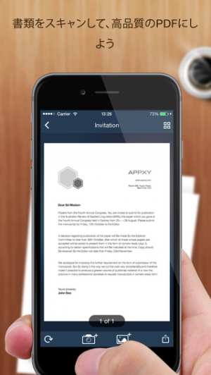 iPhone、iPadアプリ「Tiny Scanner+ - PDF scanner to scan document, receipt & fax」のスクリーンショット 2枚目