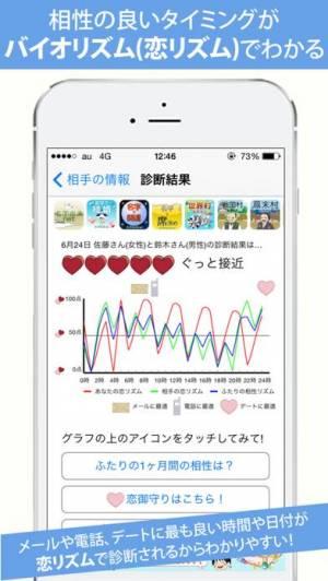 iPhone、iPadアプリ「名字で相性〜100万人以上が姓名判断で利用した恋愛診断〜」のスクリーンショット 2枚目