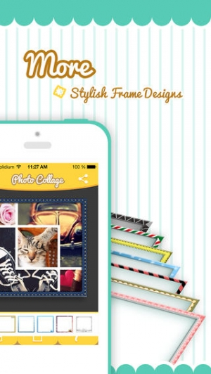iPhone、iPadアプリ「Pic-Frame Grid, Picture Collage Maker & Photo Editor Effects」のスクリーンショット 4枚目