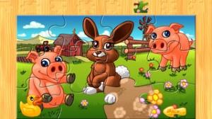 iPhone、iPadアプリ「子供のための動物のパズル - 農場 - Animal Puzzle for Kids & Tots」のスクリーンショット 1枚目
