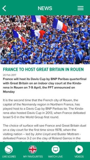 iPhone、iPadアプリ「Davis Cup」のスクリーンショット 4枚目
