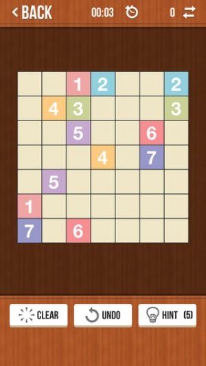 iPhone、iPadアプリ「Number Link Pro - Logic Path Board Game」のスクリーンショット 3枚目