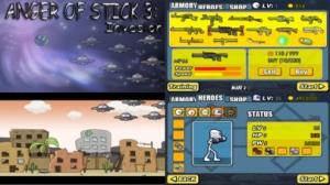iPhone、iPadアプリ「AngerOfStick3: Invasion」のスクリーンショット 1枚目