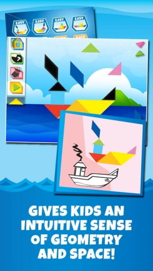 iPhone、iPadアプリ「Kids Learning Puzzles: Ships & Boats, K12 Tangram」のスクリーンショット 2枚目