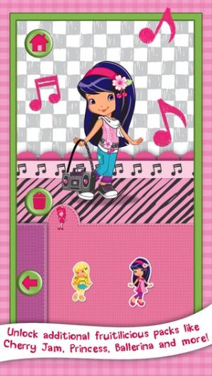 iPhone、iPadアプリ「ストロベリーショートケーキ カードメーカードレスアップ 子供用のファッションファンゲーム (Strawberry Shortcake)」のスクリーンショット 5枚目
