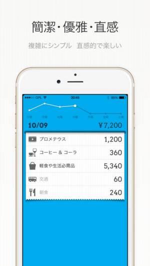 iPhone、iPadアプリ「DailyCost - 優雅な簿記」のスクリーンショット 1枚目