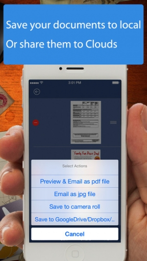 iPhone、iPadアプリ「AnyScan - Quick PDF Scanner for Multipage documents」のスクリーンショット 4枚目