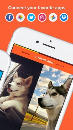 iPhone、iPadアプリ「Timehop」のスクリーンショット 2枚目