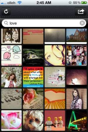 iPhone、iPadアプリ「画像検索+無料」のスクリーンショット 1枚目