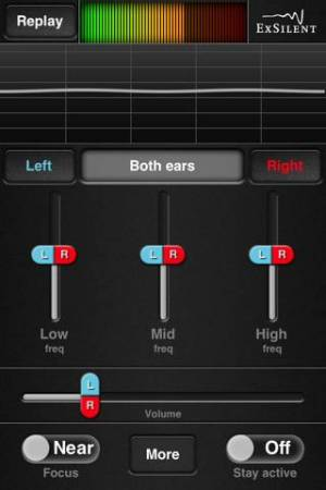 iPhone、iPadアプリ「HearYouNow – Your personal sound amplifier」のスクリーンショット 1枚目