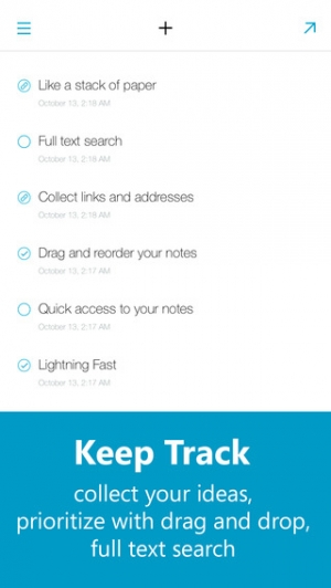 iPhone、iPadアプリ「Quick Drafts - Notes, Errands and Shopping List」のスクリーンショット 4枚目